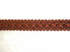 Spice brown chair braid trimming fabric upholstery gimp trim SOLD PER METRE
