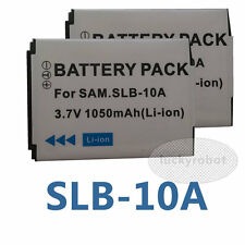 2X camera battery for Samsung SLB-10A WB600 HZ35W L100 M110 L110 ES55