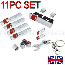 Set DI 11 AUDI S-line Badge emblemi 1x griglia 3 x Stick On A3 A4 A5 A6 A8 TT Q7