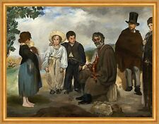 The Old Musician Edouard Manet Musiker Geige Kinder Instrumente Baby B A2 01479