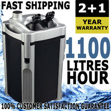 Aqua One Nautilus External Aquarium Fish Tank Turtle Pond Canister Filter 1100