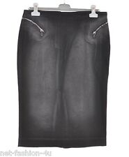 ALEXANDER McQUEEN F/W 2009 WASHED DENIM ZIP DETAIL  SKIRT UK 12 US 10 IT 44 BNW