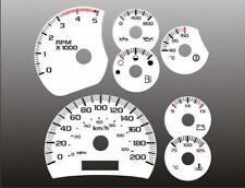 2003-2005 Chevrolet Duramax METRIC KMH Dash Cluster White Face Gauges
