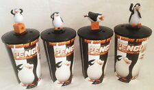 Penguins of Madagascar Movie Theater Exclusive 4 Piece Cup Topper Set with cups!
