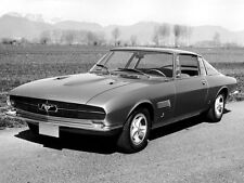 Mustang  1965 Bertone Mach II Concept  Car Front Angle View  5 x 7  Photograph