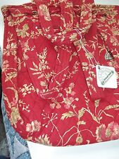 NEW J. CLAYTON LADIES BACK PACK BURNT RED FLORAL QUILTED PULL STRING SNAP