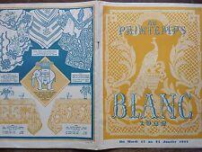 """CATALOGUE MODE """" AU PRINTEMPS"""" LE BLANC DE 1922"""