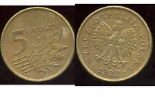 POLOGNE 5 groszy  1992  ( bis )