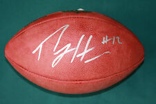 PERCY HARVIN AUTOGRAPHED OFFICIAL NFL ON FIELD LEATHER FOOTBALL PSA/DNA ROOKIE