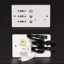 AV Wall plate / Faceplate, 3x HDMI, 2x F satellite, 1x TV & Telephone secondary