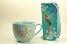 Disney Tinker  Bell Big 3D Coffee Mug Cup Peter Pan Fairy plus Vtg Pencil Case