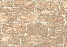 A.S.CREATION VINYL TEXTURED GLITTER STONE BRICK WALL FEATURE WALLPAPER 3438-26
