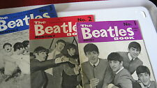 BEATLES MONTHLY  NO 1  2 3  ORIGINALS VERY GOOD FOR AGE CORNER CLIPPED AS SHOWN