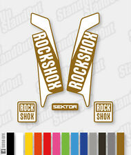 RockShox SEKTOR 2015 2016 Style Decals Stickers - 2 Colour Custom Designer Pack