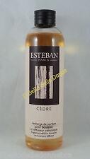 ESTEBAN Recharge 250ml x diffuseur à tiges parfum maison ambiences CEDRE cedar