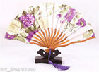 Chinese Japanese Bamboo Silk Folding HAND FAN Wedding Party Gift New