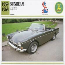 1959-1968 SUNBEAM ALPINE #1 Sports Classic Car Photo/Info Maxi Card