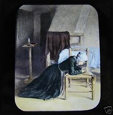 NEWTON HAND COLOURED Glass Magic lantern slide  THE LIFEBOAT SLIDE 8 C1900