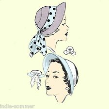Vintage 1940s  Women's Hat, Reproduction  Pattern Mail Order # 2454 PDF download