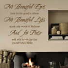 Audrey Hepburn For Beautiful Eyes Wall Art Quotes / Wall Stickers / Wall Decals