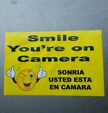 VIDEO SURVEILLANCE Security Decal Warning Sticker (smile you're )   1.  Pc.   #4