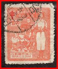 CHINA R.O.C./TAIWAN 1953 NURSE / ANTI-TUBERCULOSIS SC# 1076 USED MEDICINE (D02)