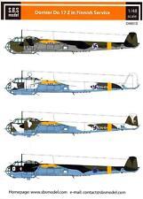 SBS Models Decals 1/48 DORNIER Do-17Z FINNISH AIR FORCE