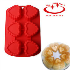 New 6-cavity Heart Silicone Chocolate Mold Jelly Ice Cake Mould DIY Bakeware