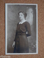 R&L Postcard: Edwardian Portrait of Young Lady in Black Dress