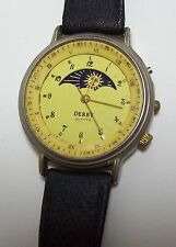 Vintage DERBY Quartz Moon Phase Watch - as is
