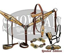Showman LIMITED EDITION 5 Piece Faith & Luck Print Bridle Set! NEW HORSE TACK