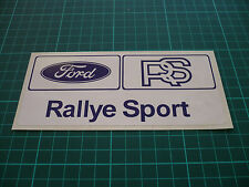 Ford RS Rallye Stickers (White) - 150mm