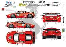 "[FFSMC Productions] Decals 1/18 Ferrari F-458GT ""Risi"" 12 Hours of Sebring 2013"