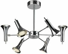 TP24 5046 Maryland 6 X 2.5W LED swivel head ceiling light Chrome