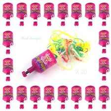 Hen Night Party Do Accessories Decorations Bag Fillers Pink Party Poppers x 20