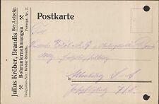 BRANDIS, Postkarte 1922, Julius Kröber Bohrunternehmungen