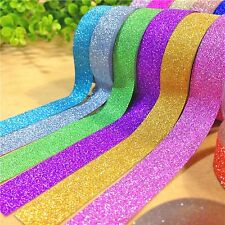 10 ROTOLI glitzertape autoadesivo Scrapbook decorative adhesive tape 0,14 €/m