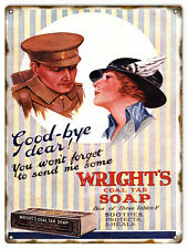 Good Bye Dear Wright's Soap Country Advertisement Sign