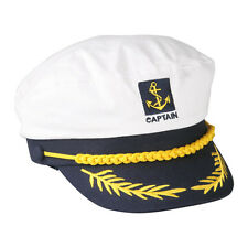 Yacht Captain Sailor Boat Police Sheriff Navy Marines Admiral Hat Cap Costume
