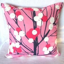 """Marimekko pillow cover in pink Lumimarja fabric from Finland, 18 x 18"""""""