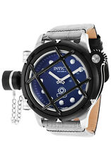 New Men's Invicta 16220 Russian Diver Swiss Mechanical Blue Dial Leather Watch