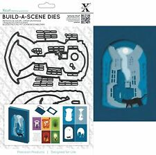 XCUT BUILD A STREET SCENE SHADOW BOX 7 DIES CUTTING DIE SET UNIVERSAL FIT