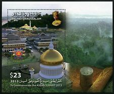 Brunei 2013 ASEAN Summit Konferenz Flaggen Flags Architektur Block MNH