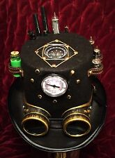 Steampunk Hat With Compass Victorian Tesla Cosplay
