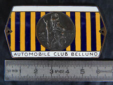 BADGE CLUB BELLUNO SAN CRISTOFORO AUTOMOBILE LOGO STEMMA OLD  ALFA LANCIA FIAT