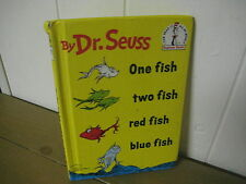 Dr. Seuss/  One Fish Two Fish Red fish Blue Fish/ easy reader/ hardback/ 1988
