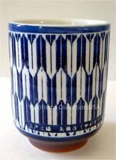 """Japanese 4""""H  Yunomi Tea Sushi Mug Cup Porcelain Yabane Design/ Made in Japan"""