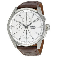 Oris Pre owned Chrono 44mm Sv D. on Brown leather strap Watch JD5CJP