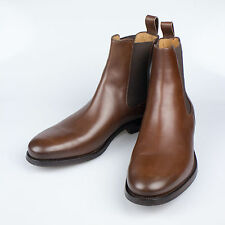 NIB. RALPH LAUREN ITALY Belgrade Brown Calf Leather Ankle Boots Shoes 7 $750