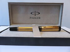 PARKER DUOFOLD GOLD  FOUNTAIN  PEN NEW IN BOX VERY RARE x fine  POINT